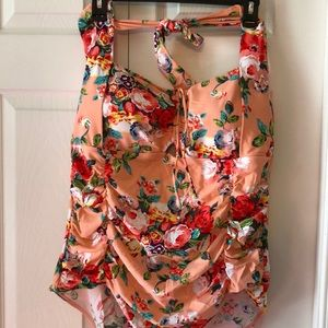 Cutest floral halter one piece that doesn't fit